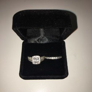 2.0 CT Halo Engagement Ring and Band